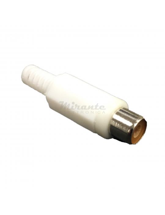 Presa RCA - Bianco - Struttura in plastica - Guidacavo 6mm