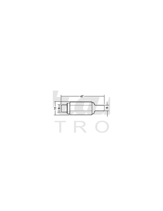 Presa RCA - Giallo - Struttura in plastica - Guidacavo 6mm