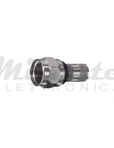 Spina SAT F - a vite - doppio Anello - 6.8mm