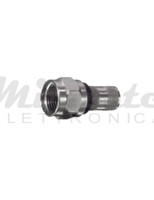 Connettore SAT F - a vite - Doppio ORING - 5 mm