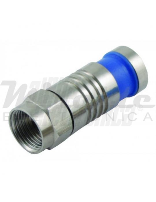 Connettore SAT F - a compressione - 6.1mm