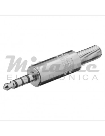 Spina Jack 3,5mm 4 poli, in metallo