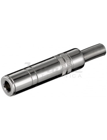 Presa Jack 6,35 mm - Stereo - con Giudacavo 7mm - Metallo
