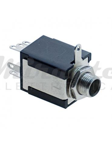 Presa Jack 6,3mm Stereo - da pannello - 8 Pin con Doppio deviatore