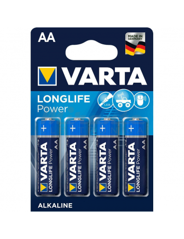 Varta - Pile Stilo Alcaline AA, confezione da 4