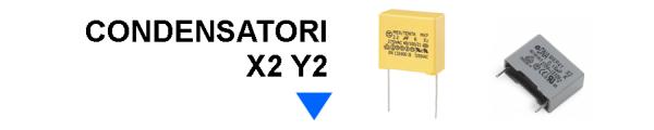 Condensatori in polipropilene X2 Y2 online: Mirante Elettronica