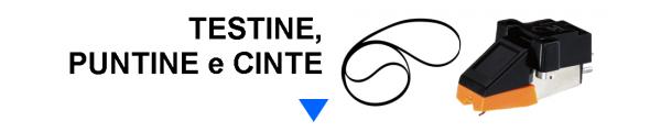Testine, Puntine e Cinte per Giradischi online: Mirante Elettronica