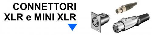 Connettori XLR e mini XLR